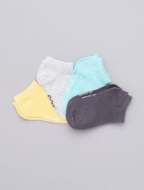 - Set van 4 paar lage sokken                             GRIJS