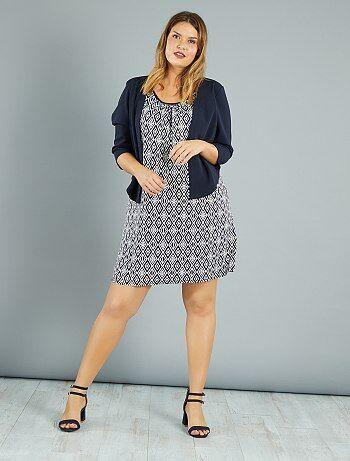 Dames Size+ - 2-in-1 jurk met vest - Kiabi