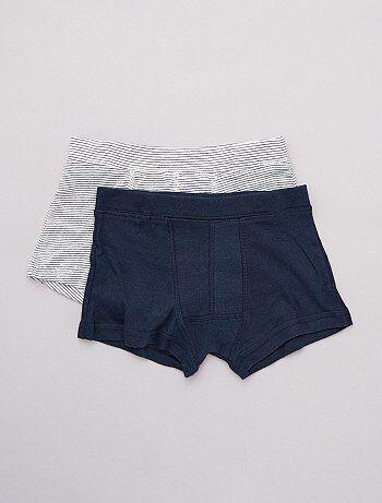 e9d46c231c5199 Jongenskleding 3-12 jaar - 2 milieuvriendelijke boxershorts - Kiabi