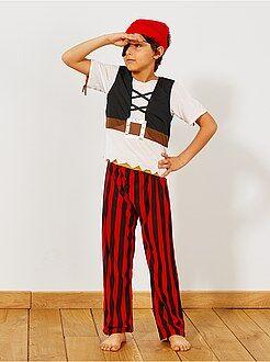 3 in 1 verkleedkostuum van een piraat, indiaan en een cowboy - Kiabi