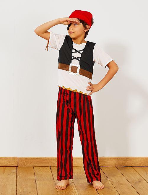 3 in 1 verkleedkostuum van een piraat, indiaan en een cowboy                             bruin