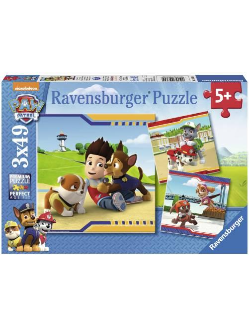 3 'Paw Patrol'-puzzels van 'Ravensburger'                             meerkleurig Kinderkleding jongens