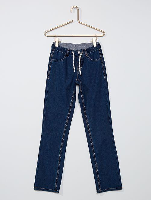 Aangepaste jeansbroek                             BLAUW