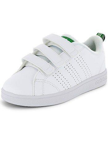 Jongenskleding 10-18 jaar - 'Adidas VS Advantage Clean' sneakers met klittenband - Kiabi
