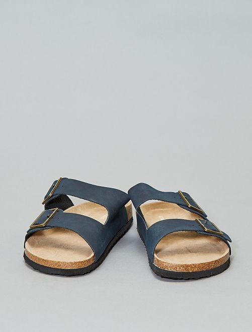 Anatomische sandalen met bandje                                         marineblauw Herenkleding