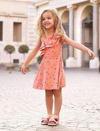 c42af59692830c Meisjeskleding 3-12 jaar - Asymmetrische jurk met print - Kiabi