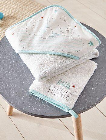 Meisje 0-36 maanden - Badcape en bijpassend washandje - Kiabi
