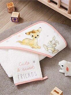 Badcape en washandje van 'Bambi' van 'Disney' - Kiabi