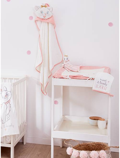 Badcape met bijpassend washandje van 'Marie'                             WIT Meisjes babykleding