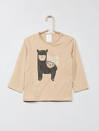 Jongen 0-36 maanden - Basic T-shirt met print - Kiabi