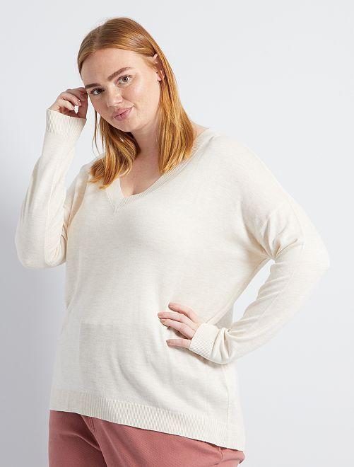 Basic trui van fijn tricot                                             ORANJE
