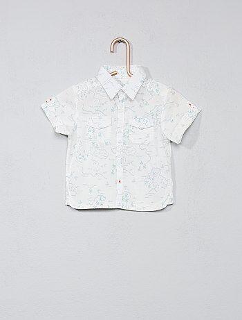 Bedrukt overhemd met borstzakken - Kiabi