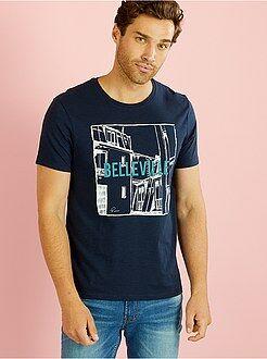 Sportkleding - Bedrukt T-shirt met korte mouwen