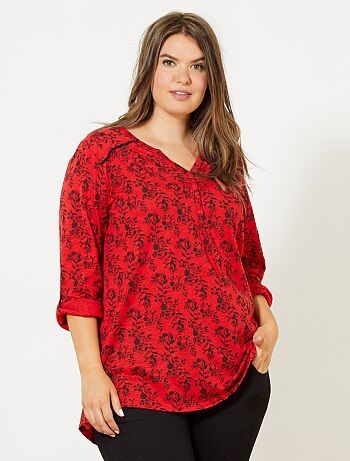 Bedrukt T-shirt met Tunesische hals - Kiabi