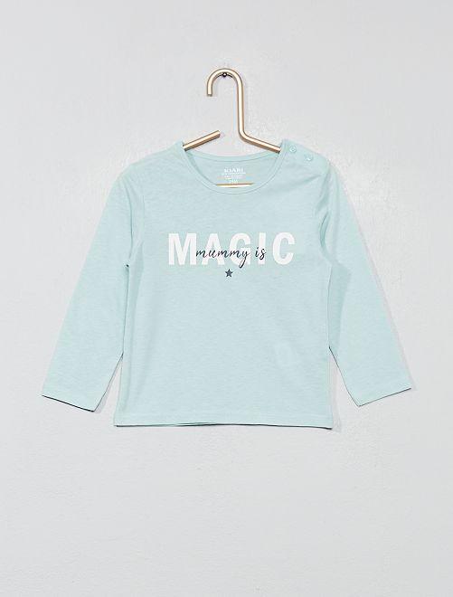 ea8254a98e55c9 Bedrukt T-shirt van biologisch katoen Meisjes babykleding - ROSE ...