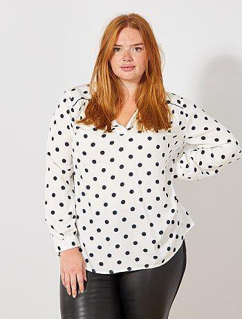 Bedrukte blouse met een V-hals - Kiabi