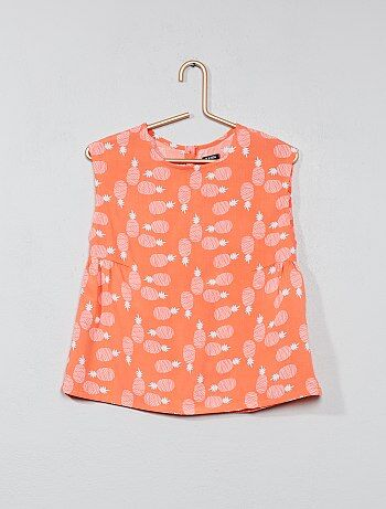 Bedrukte blouse van viscose - Kiabi