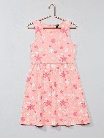 Bedrukte jurk, opengewerkt aan de achterkant - Kiabi
