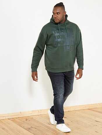 Bedrukte sweater met capuchon - Kiabi