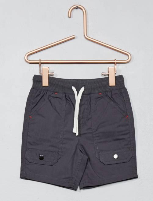 Bermuda met meerdere zakken van katoen GRIJS Jongens babykleding