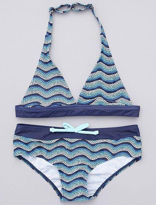 Bikini                                         blauw / wit