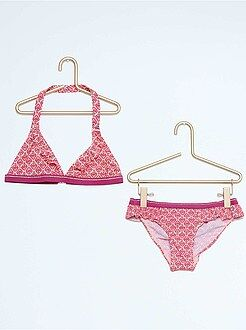 Zwemkleding kinderen - Bikini met etnische print