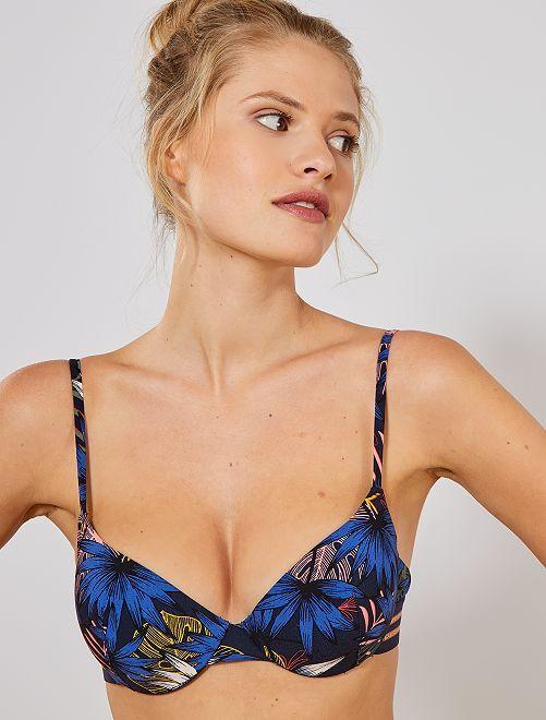 Bikinibovenstukje met beugels                             BLAUW Dameskleding
