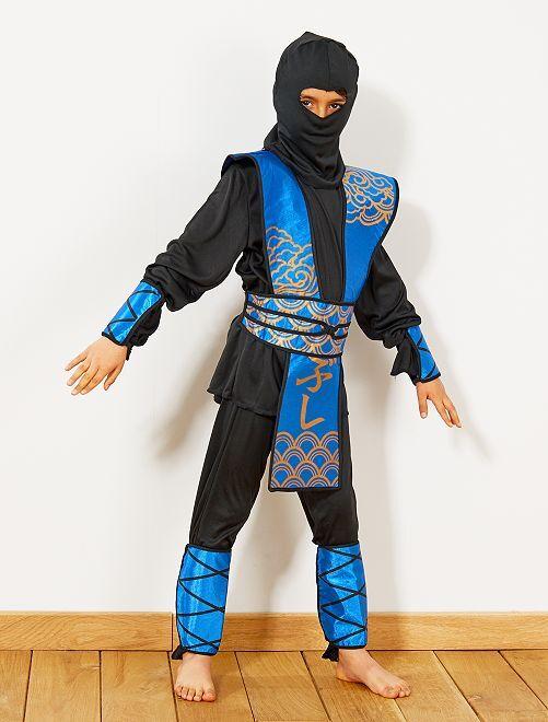 Blauwe ninja verkleedkostuum                             blauw / zwart
