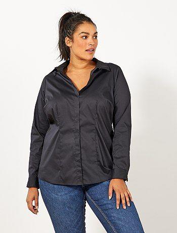 Dames Size+ - Blouse van stretch katoen - Kiabi