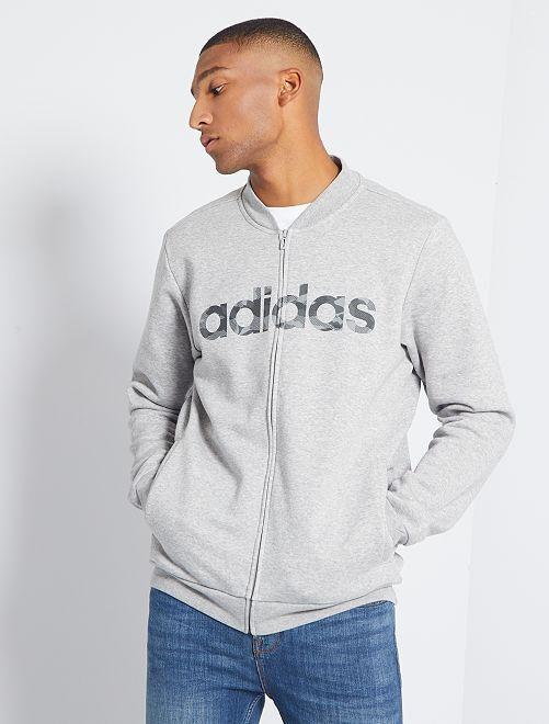 Bombersweater met rits 'Adidas'                             GRIJS