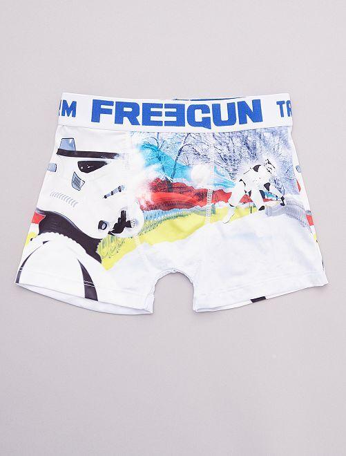 Boxer 'Freegun met 'Star Wars'-print                             WIT
