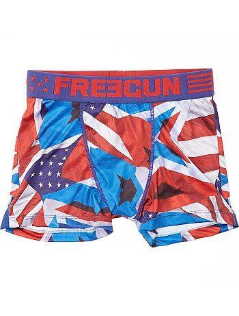 Boxershort van 'Freegun' met print van de Amerikaanse vlag - Kiabi