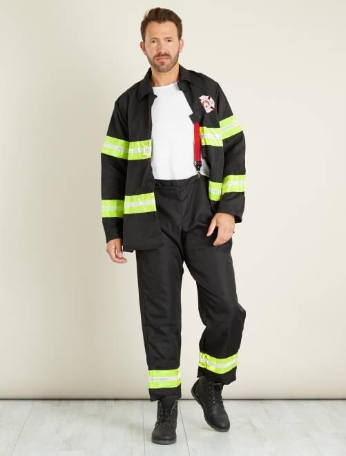 Brandweermankostuum                             zwart Heren