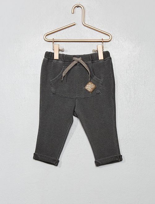 Broek van tricot                                                     donkergrijs