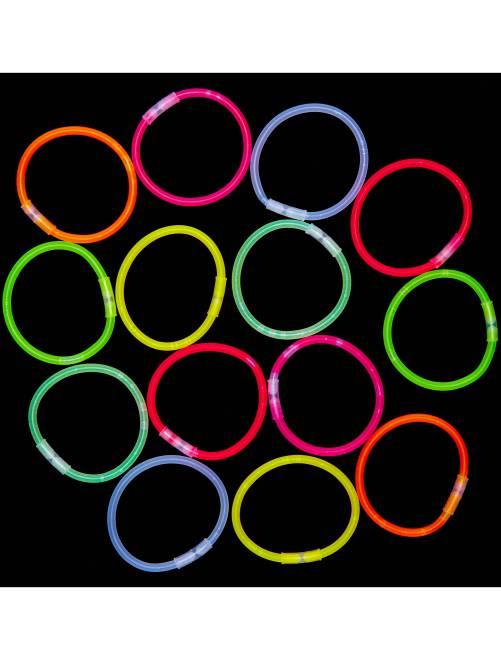 Buis met 15 lichtgevende armbanden                             meerkleurig