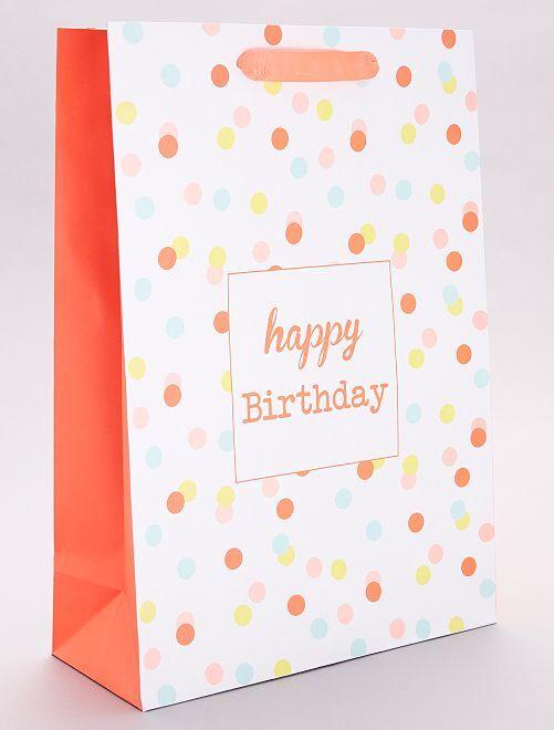 Cadeautasje 'Happy Birthday'                             meerkleurig