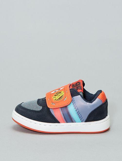 'Cars'-sneakers van twee stoffen                             blauw Schoenen