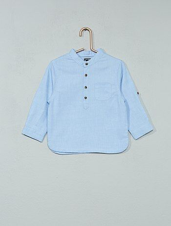 Chambray blouse met een maokraag - Kiabi