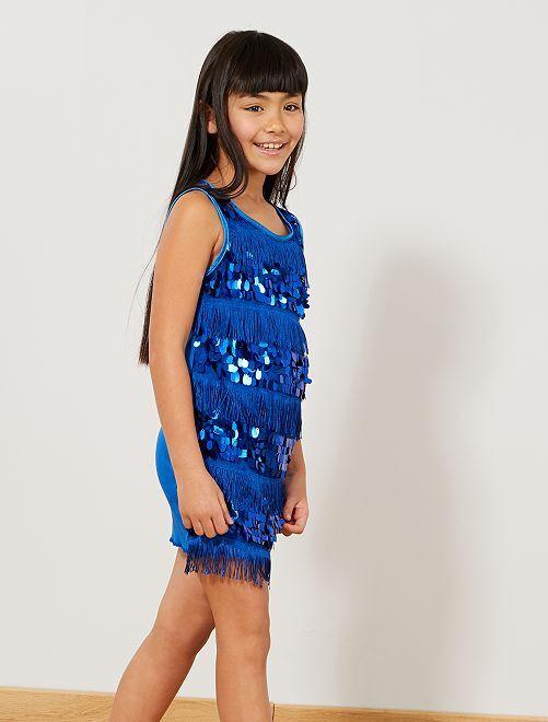 Charleston-verkleedkostuum voor meisjes                                                                 blauw Kinderen