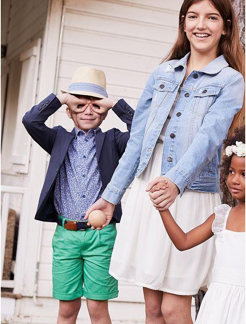 Kinderkleding Jongens.Chino Bermuda Van Twill Kinderkleding Jongens Groen Kiabi 8 00