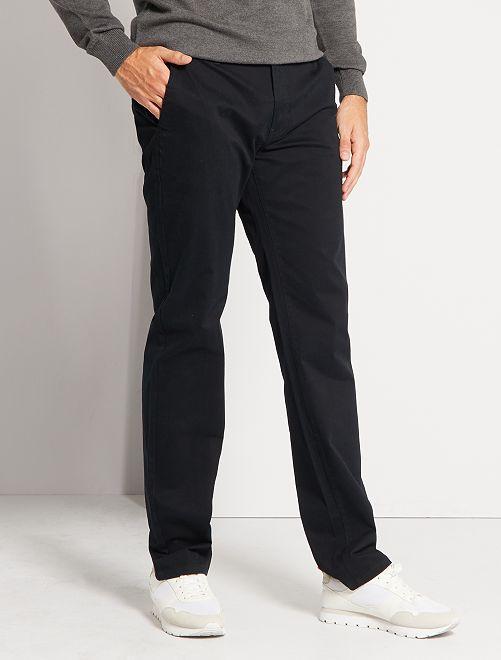 Chino broek L38 +1m90                                                     zwart