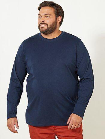 Herenmode grote maten - Comfortabel effen T-shirt - Kiabi