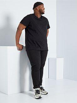 Herenmode grote maten - Comfortabel T-shirt van effen tricot - Kiabi
