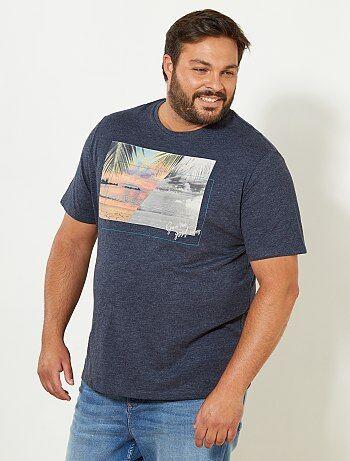 Comfortabel T-shirt van gevlamd tricot - Kiabi