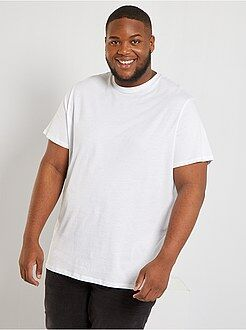 Herenmode grote maten - Comfortabel tricot T-shirt - Kiabi
