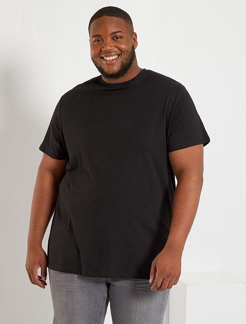 Comfortabel tricot T-shirt                                                                                                                                                                             zwart Herenmode grote maten