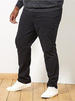 Herenmode grote maten Comfortabele broek van gabardine