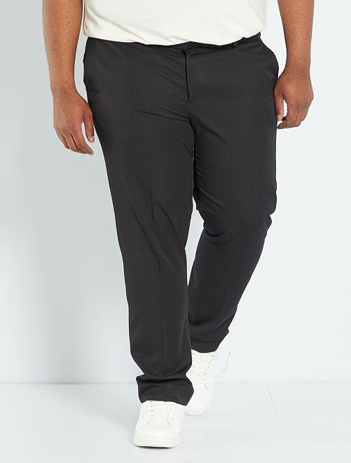 Comfortabele effen kostuumpantalon                             zwart