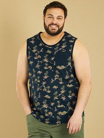 Comfortabele mouwloze tricot top met print - Kiabi