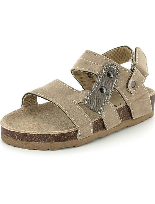 Comfortabele sandalen van suèdine                                         bruin Kinderkleding jongens